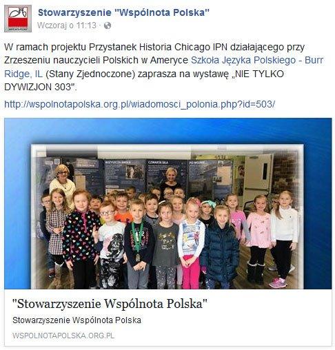 Wspolnota Polska - Nie tylko Dywizjon 303 - wystawa w naszej szkole